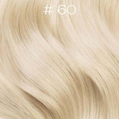 Накладной хвост на ленте тон 60 платиновый блонд