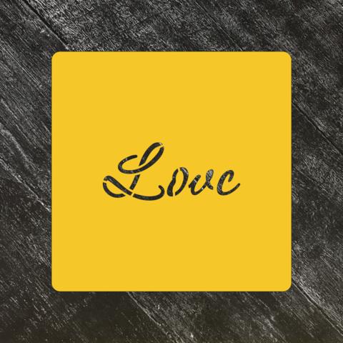 Трафарет любовь №69 Love