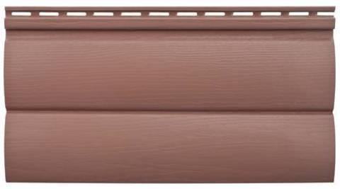 Блокхаус Альта-Профиль двухпереломный Красно-коричневый Виниловый