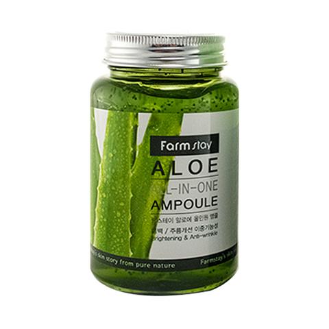 Farm Stay Aloe All-in-one ampoule Сыворотка с экстрактом алоэ 250мл