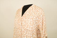 Блузка Elite 2462 рубашка карманы долматин 3/4