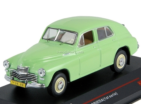 GAZ-M20 Pobieda 1st Series light green 1949 IST130 IST Models 1:43