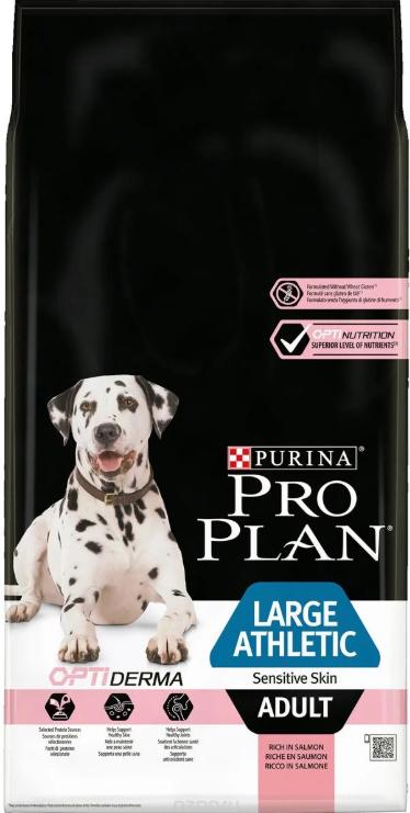 Сухой корм Сухой корм, Purina Pro Plan Dog, для взрослых собак крупных пород с атлетическим телосложением с чувствительной кожей, с лососем и рисом 2018-11-20_22-51-56.png