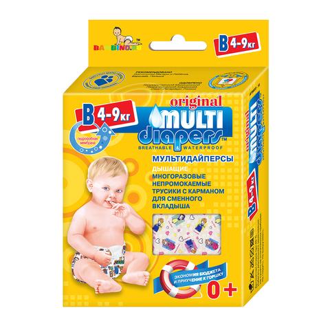 Многоразовые подгузники-трусики Multi-Diapers Original синий узор