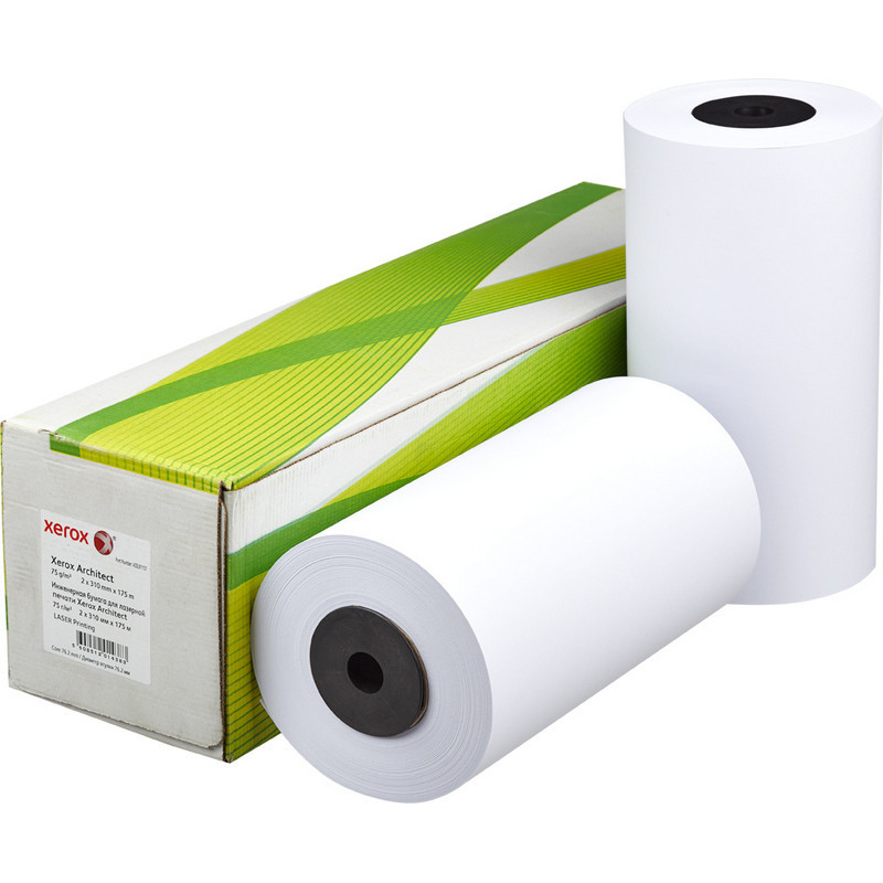 Бумага широкоформатная Xerox XES Architect (диаметр втулки 76 мм, длина 175 м, ширина 310 мм, плотность 75 г/кв.м, белизна 170 %)