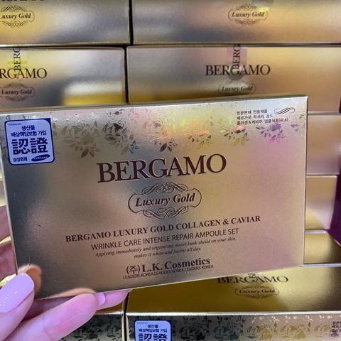 BERGAMO LUXURY GOLD COLLAGEN & CAVIAR AMPOULE SET 4шт.