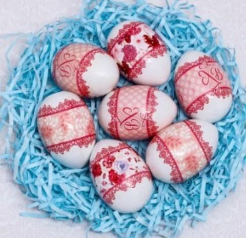 060-0086 Пасхальная термоусадочная плёнка «Кружево», на 7 яиц