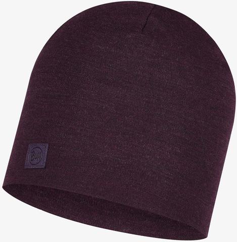 Теплая шерстяная шапка Buff Hat Wool Heavyweight Deep Purple фото 1