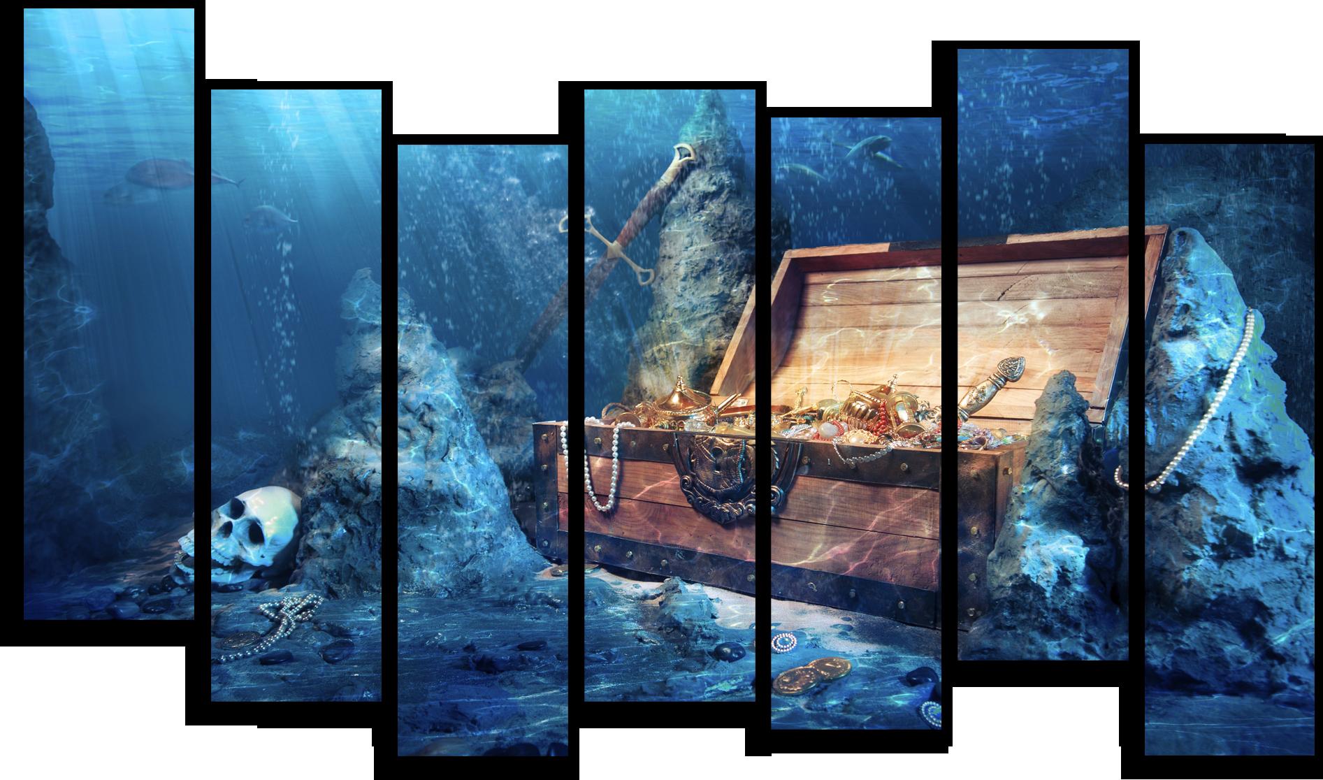 """Природа Модульная картина """"Морское дно"""" М544.png"""