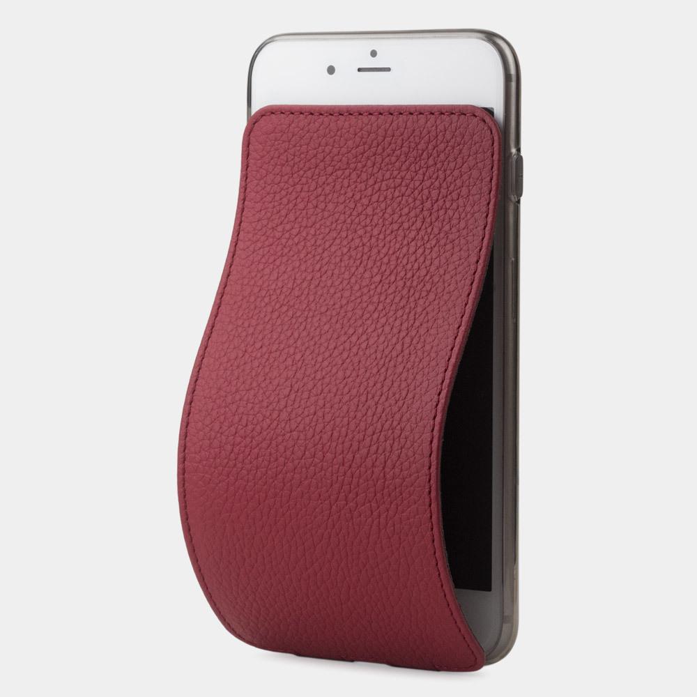 Чехол для iPhone 8 Plus из натуральной кожи теленка, вишневого цвета