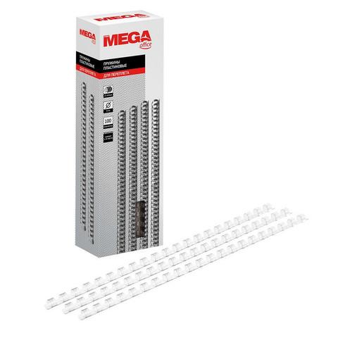 Пружины для переплета пластиковые Promega office 8 мм прозрачные (100 штук в упаковке)