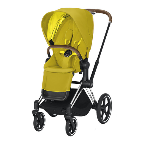 Прогулочная коляска Cybex Priam III Mustard Yellow Chrome