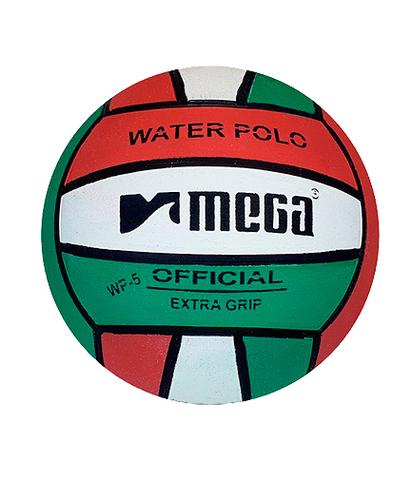 Тренировочный ватерпольный мяч MEGA water polo ball tricolor W5 Размер 5 мужской арт.B-MEGA-5-030508