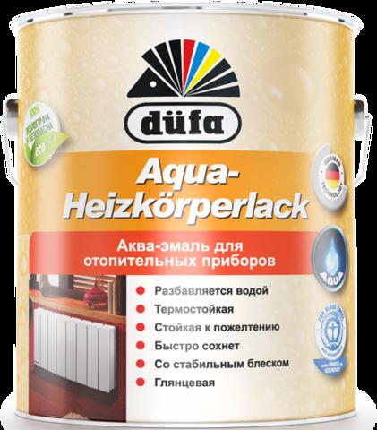 Dufa AQUA-HEIZKORPERLACK/Дюфа Аква Хейцкорперлак Эмаль для отопительных приборов белая