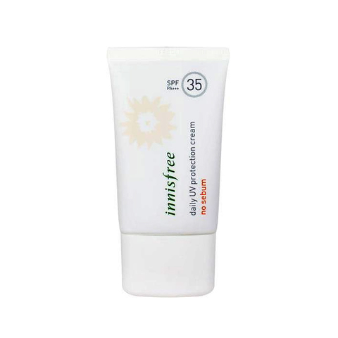 Innisfree Daily UV protection cream no sebum SPF35 PA+++  Солнцезащитный крем