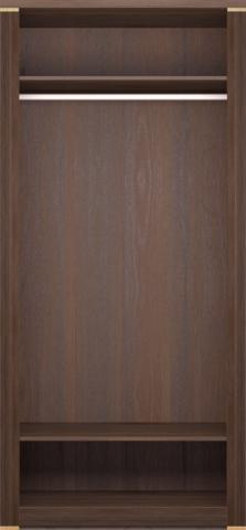 Шкаф для одежды двухдверный Париж 17 с ящиками Ижмебель дезира темная/орех натуральный глянец