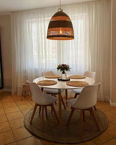 Кухонный интерьерный круглый стол Oslo Round MDF (D110/120см)