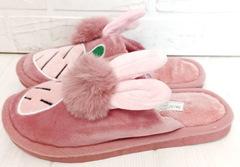 Комнатные тапочки зайчики PR 128  Pink
