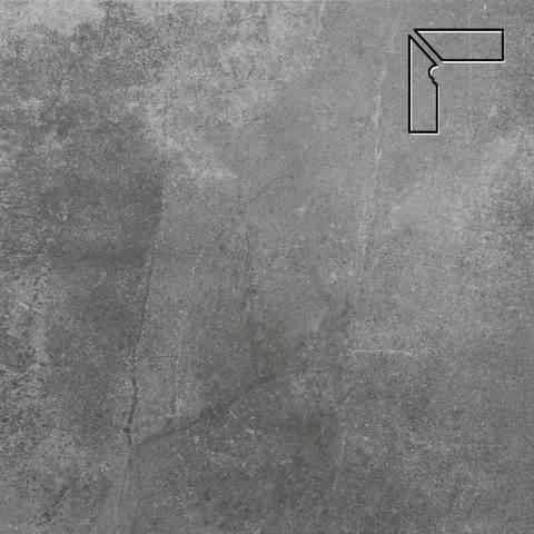 Stroeher - Keraplatte Aera 710 crio длина стороны угла 290 артикул 9117 - Плинтус клинкерной ступени левый