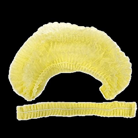 Шапочка-клип спандбонд  50 шт, желтая