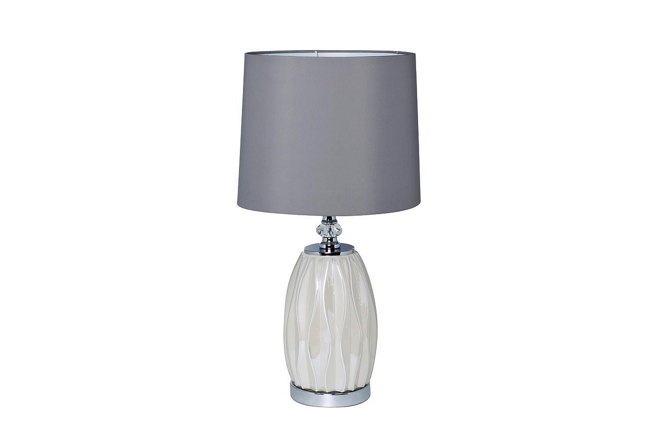 22-87755 Лампа настольная плафон светло-серый d30*62см (2)