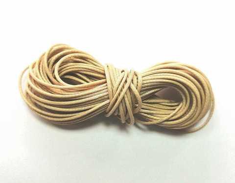 Шнур вощеный для браслетов и рукоделия 1мм*9м. Цвет бежевый (3090)