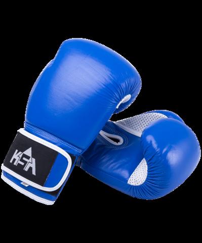 Перчатки боксерские Wolf кожа синие