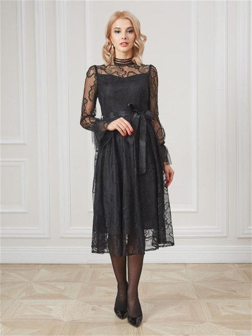 Платье 19002C черный