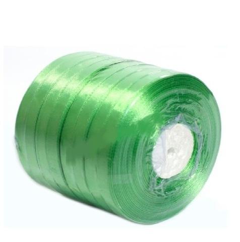 Лента атласная (размер: 10 мм х 50 ярд) Цвет: зеленое яблоко