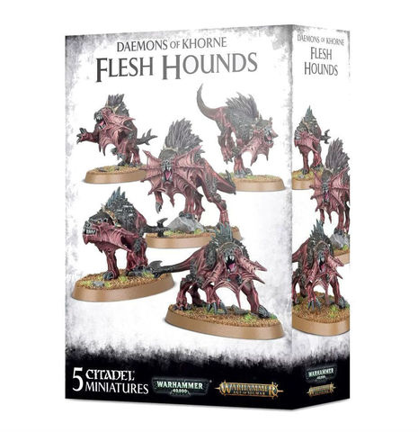 DAEMONS OF KHORNE FLESH HOUNDS