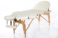 Массажный стол деревянный 3-хсекционный RESTPRO OVAL 3 Cream