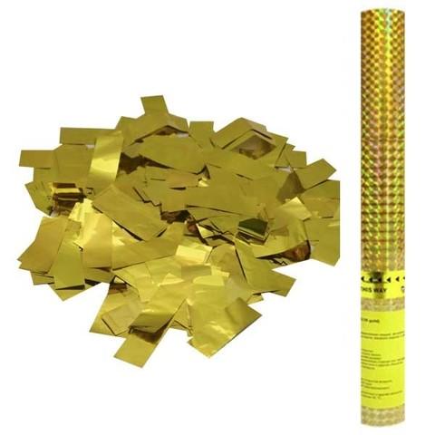 Пневмохлопушка в пластиковой тубе Золотое конфетти 60см