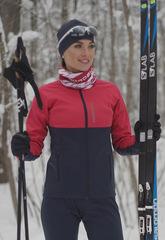 Детская Утеплённая лыжная куртка Nordski Jr. Premium Pink-Blueberry 2020
