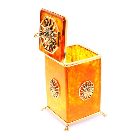 Коробочка для чая из янтаря «Цезарь»