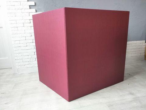 Коробка бордовая
