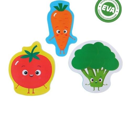 Набор игрушек для ванны «Овощи»: фигурки-стикеры из EVA, 3 шт.