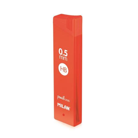 Стержни микрографические Milan HB 0.5 мм (12 грифелей в упаковке)