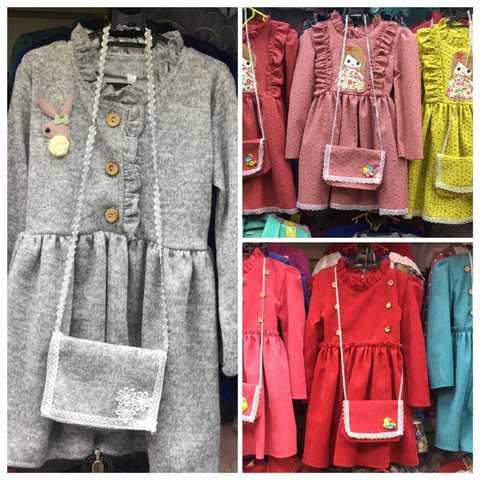 Платья детские с сумочкой