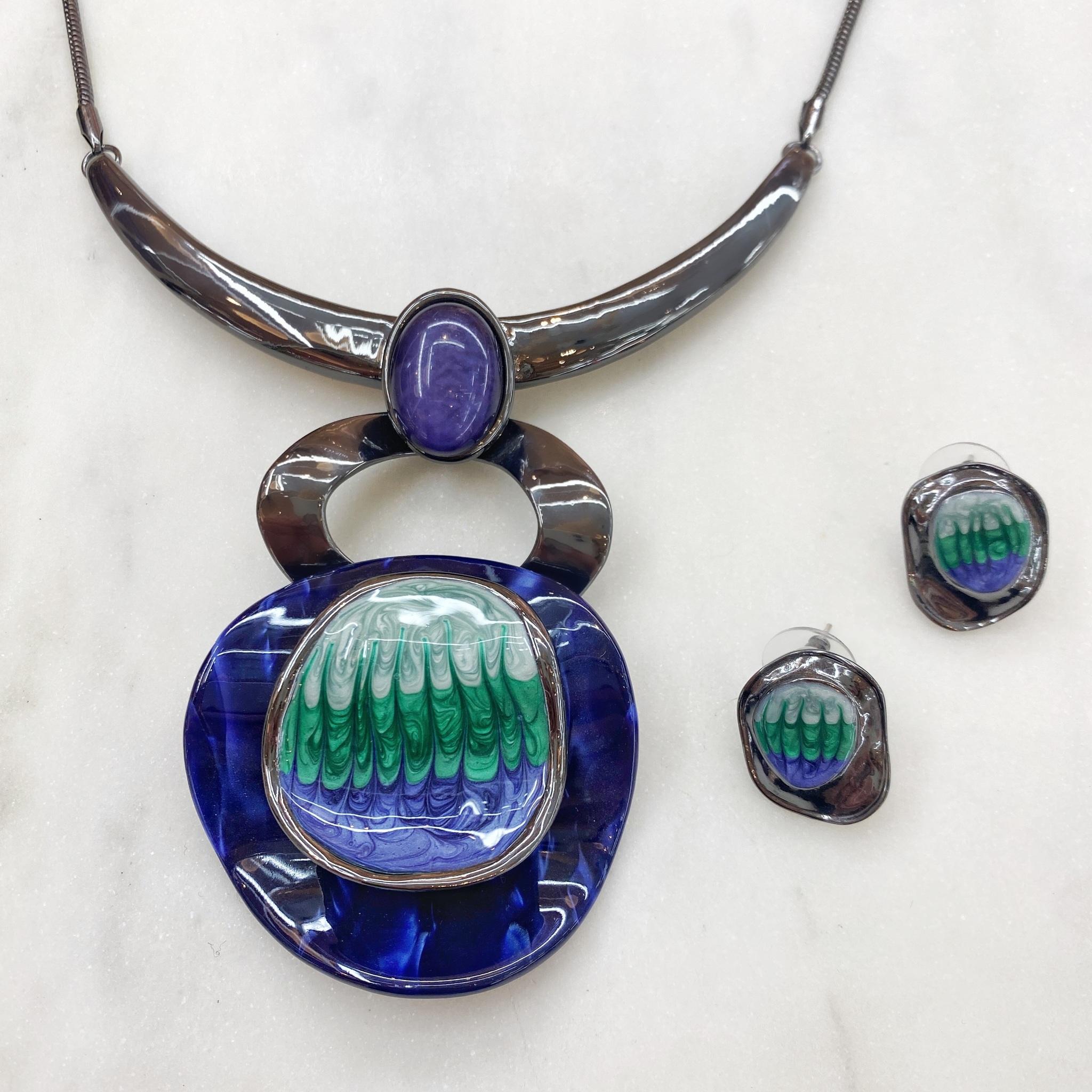 Комплект Арт Плей Мод.14 синий (худ.стекло, глазурь, акрил)