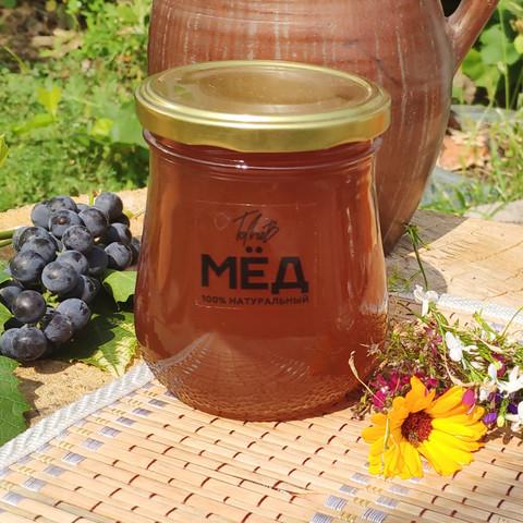 Мёд цветочный с гречихой середина лета 2021 Ивановка 0,5 кг (660г)
