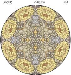 Эскиз для росписи, Круг диаметр-47,5см, SMAR-st-1