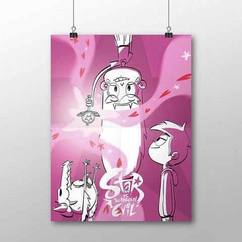 Плакат со Стар, Марко и Людо