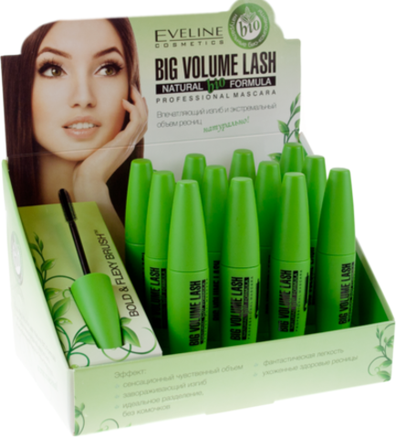 EVELINE БАРКЕТА Big Volume Lash Professional BIO FORMULA  тушь для ресниц 10мл (*12)