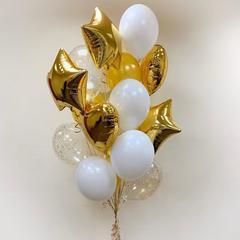 Фонтан из шаров Золото в белом