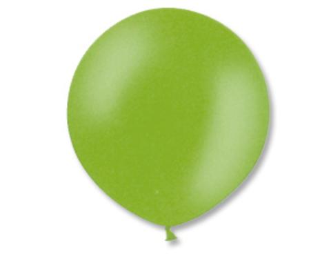 Большой воздушный шар металлик зеленый