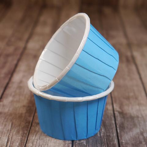 Капсулы для капкейков усиленные,голубые, 20шт, 50*40см