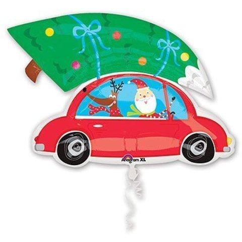 Санта на машине