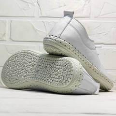 Белые мокасины кроссовки с белой подошвой женские Rozen 115 All White.