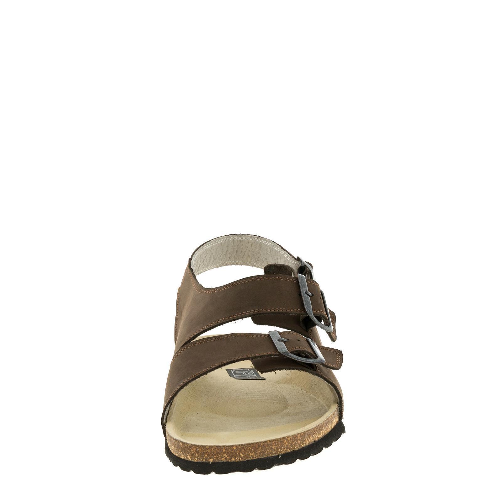 588107 сандалии мужские коричневые больших размеров марки Делфино