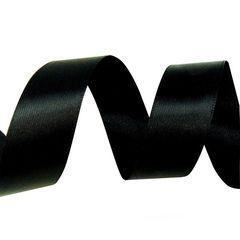 Лента Атлас Черный / 7 мм * 22,85 м